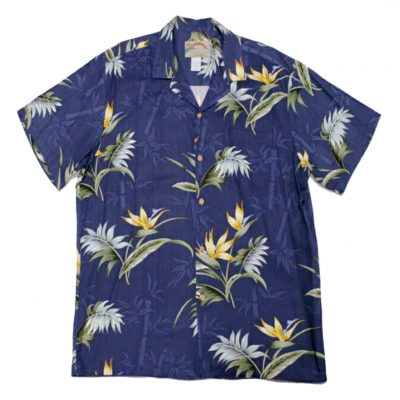 Men's Paradise Found® Aloha Short Sleeve Camp Shirt, Bamboo Paradise Navy