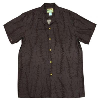 Men's Paradise Found® Aloha Short Sleeve Camp Shirt, Banana Leaf Black