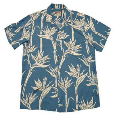 Men's Paradise Found® Aloha Short Sleeve Camp Shirt, Pareau Paradise Blue