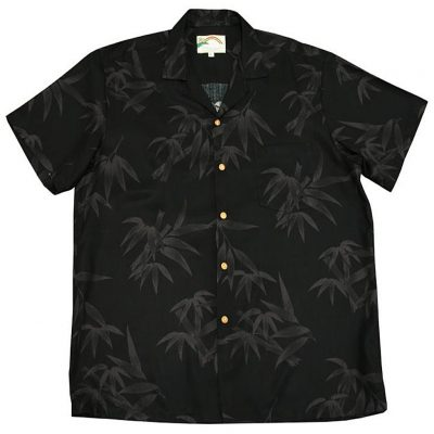 Men's Paradise Found® Aloha Short Sleeve Camp Shirt, Bamboo Black