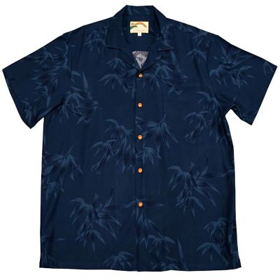 Men's Paradise Found® Aloha Short Sleeve Camp Shirt, Bamboo Navy