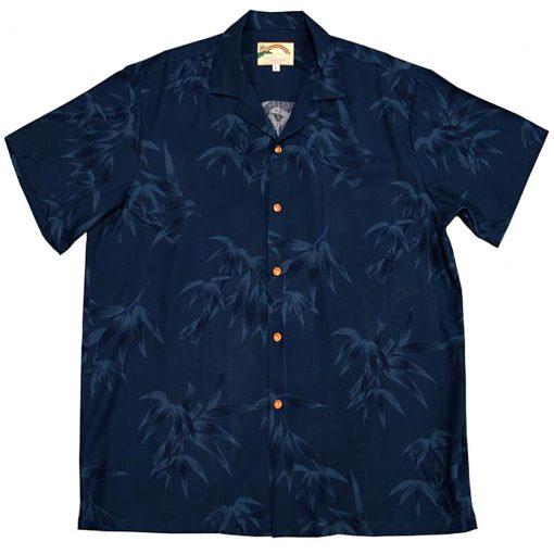 Men's Paradise Found® Aloha Short Sleeve Camp Shirt, Bamboo Navy
