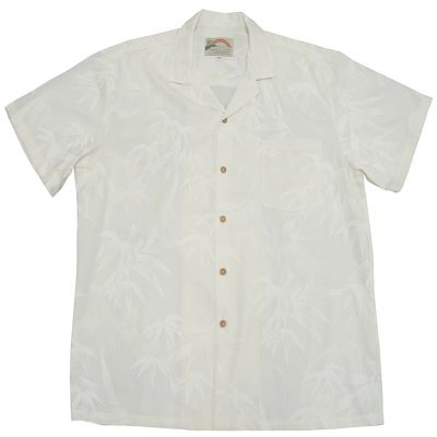 Men's Paradise Found® Aloha Short Sleeve Camp Shirt, Bamboo White