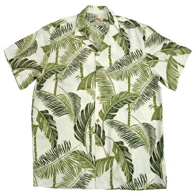 Men's Paradise Found® Aloha Short Sleeve Camp Shirt, Tree Tops Cream