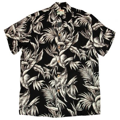 Men's Paradise Found® Aloha Short Sleeve Camp Shirt, Tropical Paradise Black