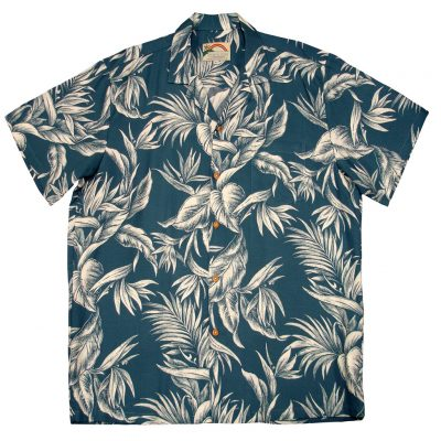 Men's Paradise Found® Aloha Short Sleeve Camp Shirt, Tropical Paradise Blue