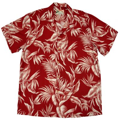 Men's Paradise Found® Aloha Short Sleeve Camp Shirt, Tropical Paradise Red