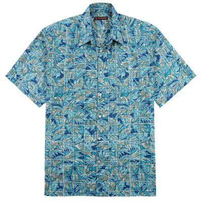 Men's Tori Richard® Cotton Lawn Short Sleeve Shirt, Mix-N-Match #6407 Blue