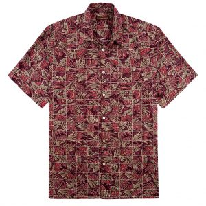 """Men's Tori Richard® Cotton Lawn Relaxed Fit Short Sleeve Shirt, Mix-N-Match #6407 Wine """"USE COUPON TR1 WHEN YOU CHECK OUT"""""""