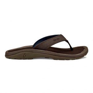 Men's OluKai® Classic 'Ohana Sandal #10110 Dark Wood / Dark Wood