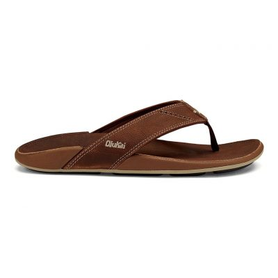 Men's OluKai® NUI Leather Sandal #10239 Rum / Rum