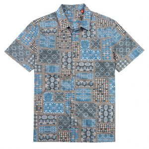 """Men's Tori Richard® Cotton Lawn Relaxed Fit Short Sleeve Shirt, Empire #6428 Caviar """"USE COUPON TR1 WHEN YOU CHECK OUT"""""""