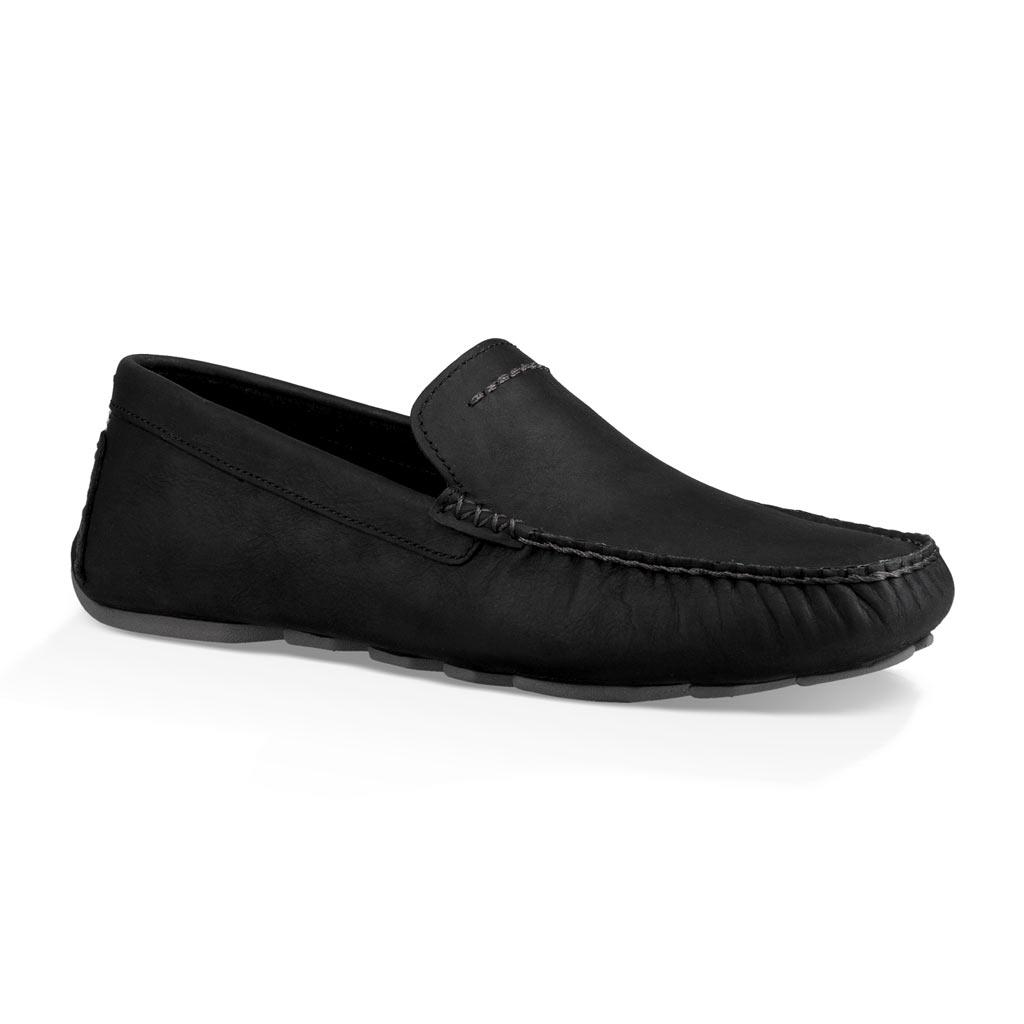 cacec881e77 Men's UGG Henrick Leather Driving Mock Shoe #1017317, Black - Richard David  for Men