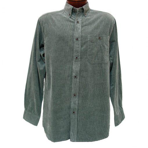 Men's Basic Options® Long Sleeve Yarn Dyed Solid Corduroy Shirt, #81560-1 Ash