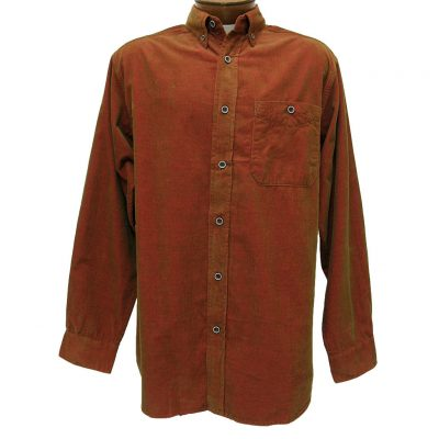 Men's Basic Options® Long Sleeve Yarn Dyed Solid Corduroy Shirt, #81560-55A Sunset