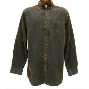 Men's Basic Options Long Sleeve Yarn Dyed Solid Corduroy Shirt, #81560-8 Navy/Olive (SOLD OUT UNTIL FALL 2020!)