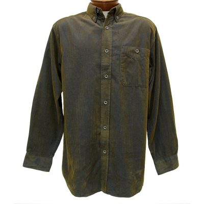 Men's Basic Options® Long Sleeve Yarn Dyed Solid Corduroy Shirt, #81560-8 Navy