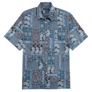 Men's Tori Richard Cotton Lawn Relaxed Fit Short Sleeve Shirt, Casablanca #6446 Black (SOLD OUT!)