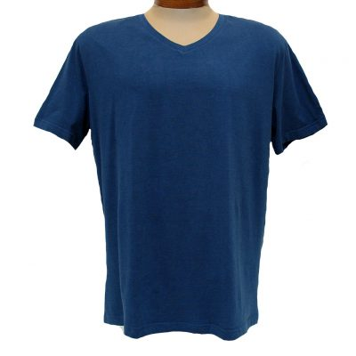 Men's Vannucci Couture® Short Sleeve Super Soft Cotton Model Blend V-Neck Tee, Denim