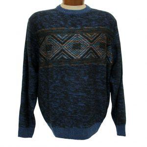 Men's Cellinni Long Sleeve Wool Blend Fancy Crew Neck Sweater #5800-916 Black (M, ONLY!)