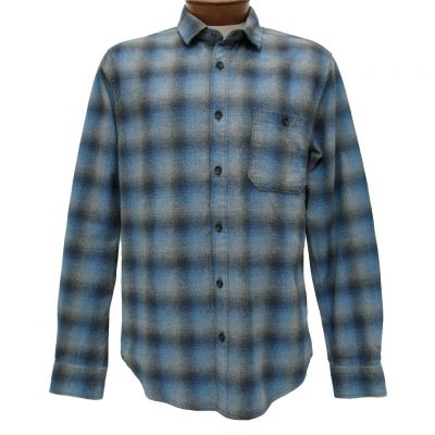 Men's Jeremiah® Long Sleeve 100% Cotton Brushed Crepe Plaid Shirt, Delta Captain Heather