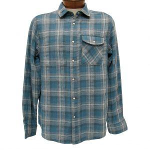 Men's Jeremiah® Long Sleeve 100% Cotton Reversible Plaid With Print, Elias Teal