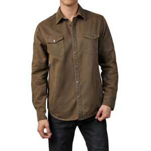 """Men's Jeremiah® Long Sleeve Suede Cotton Snap Button Front  Shirt Jacket, Colt Mole """"USE COUPON J2 AT CHECK OUT"""""""