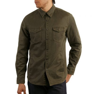 Men's Jeremiah® Long Sleeve Suede Cotton Snap Button Front Shirt Jacket, Colt Olive
