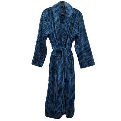Majestic International® Metro Marled Plush Fleece Shawl Collar Robe, Light Blue