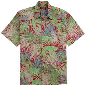 "Men's Tori Richard® Cotton Lawn Relaxed Fit Short Sleeve Shirt, So Shady #6448 Red ""USE COUPON TR1 AT CHECK OUT"""