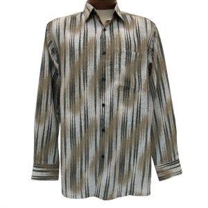 Men's Bassiri® Long Sleeve Button Front Microfiber Sport Shirt #6134 Taupe (XL & XXL, ONLY!)