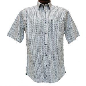 Men's F/X Fusion Short Sleeve 100% Cotton Sport Shirt, Charcoal/White Broken Circle Print #C129 (XXL, ONLY!)