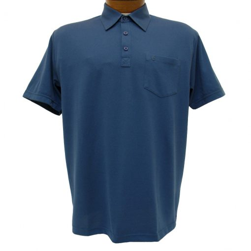 Men's Gabicci Vintage Polo Shirt, Short Sleeve Knit With Hard Collar, #Z05 Indigo