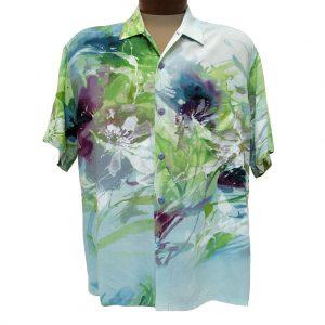 Men's Jams World® Short Sleeve Original Crushed Rayon Retro Aloah Shirt, Magical