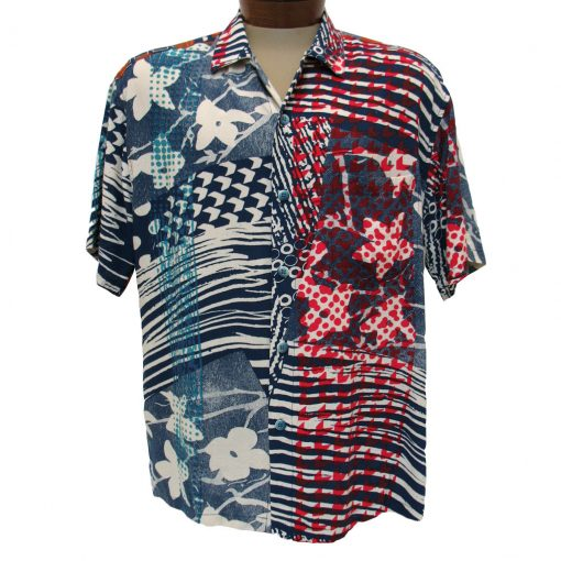 Men's Jams World® Short Sleeve Original Crushed Rayon Retro Aloah Shirt, Simpson