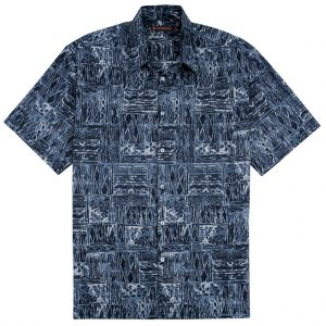 """Men's Tori Richard® Cotton Lawn Relaxed Fit Short Sleeve Shirt, Cat's Cradle #6449 Black """"USE COUPON TR2 AT CHECK OUT"""""""