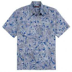 """Men's Tori Richard® Cotton Lawn Relaxed Fit Short Sleeve Shirt, Jungle Tribe #MAO8 Navy """"USE COUPON TR2 AT CHECK OUT"""""""