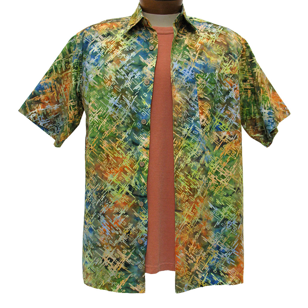 Men's Basic Options Short Sleeve Multi Digital Button