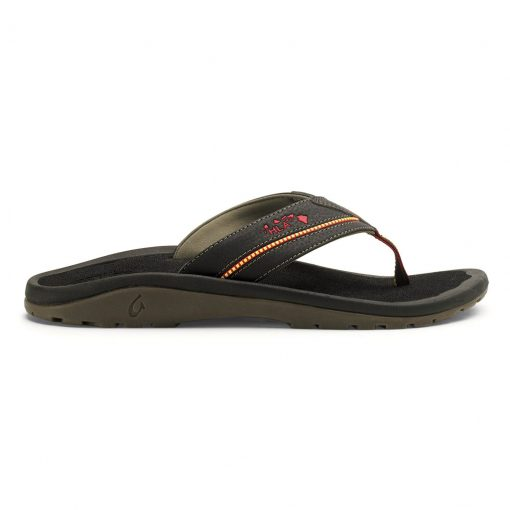 Men's OluKai® KIA'I II Sandal, Official Footwear Of The Hawaiian Lifeguard Association #10192 Black/Black