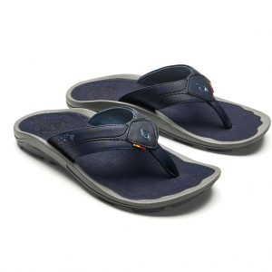 Men's OluKai® KIPI Sandal, Official Footwear Of The Hawaiian Lifeguard Association #10324 Trench Blue/Trench Blue