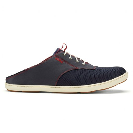 Men's OluKai® Nohea Moku Shoe #10283 Trench Blue/Deep Red