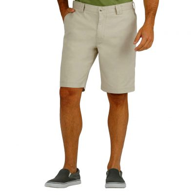 Men's Tori Richard® Brushed Cotton Enzyme Washed Carmel Short, #1787-2613-Khaki