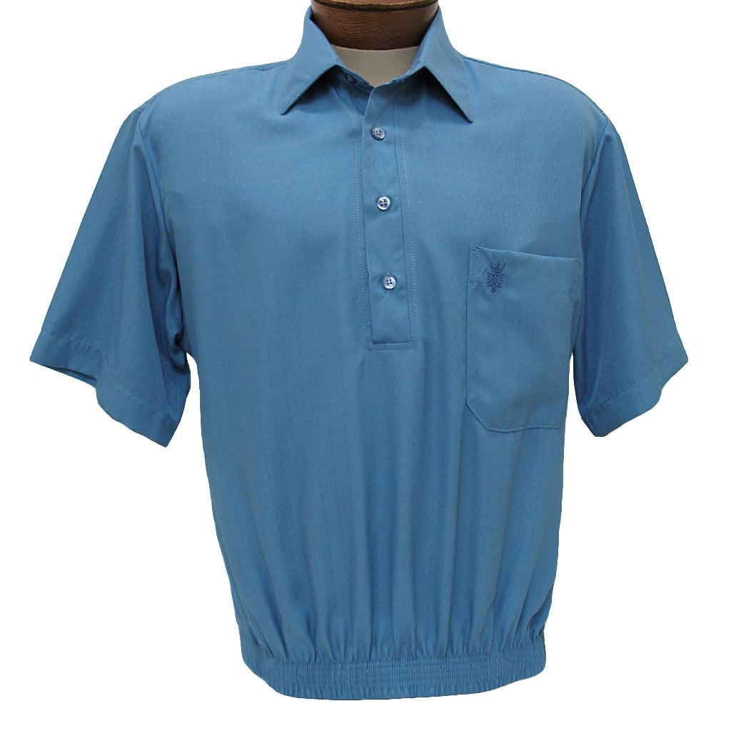 Men 39 S Shirt D 39 Accord Short Sleeve Banded Bottom 6447