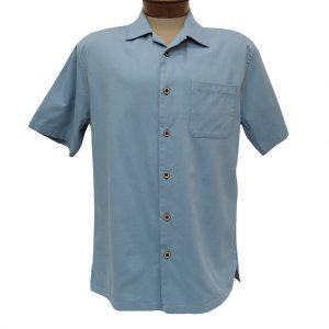 Men's F/X Fusion Short Sleeve Cotton Blend Camp Shirt, #802 Infinity Blue