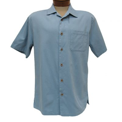 Men's F/X Fusion Short Sleeve Cotton Blend Camp Shirt, #802 Infinity Blue
