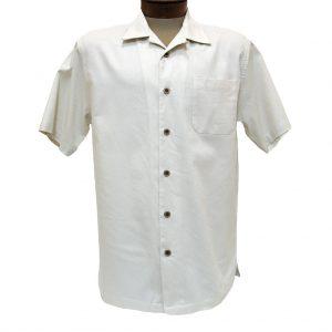 Men's F/X Fusion Short Sleeve Cotton Blend Camp Shirt, #802 Ivory