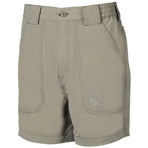 Men's Shorts, Hook & Tackle Original Beer Can Island NEW 4- Way Stretch Nylon Hybrid #M019740 Sand