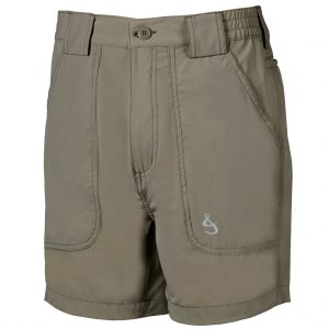 Men's Shorts, Hook & Tackle Original Beer Can Island NEW 4- Way Stretch Nylon Hybrid #M019740 Khaki (42, ONLY!)