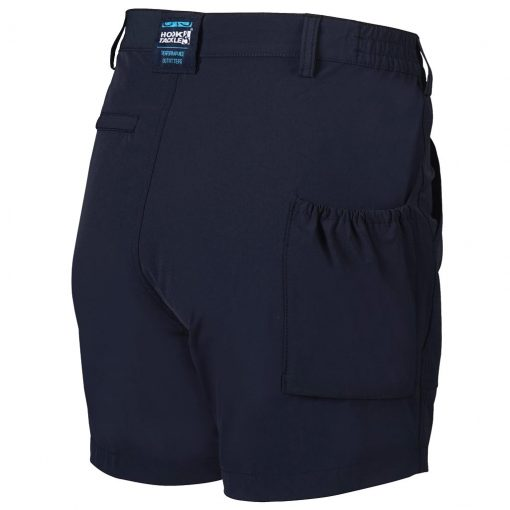 Men's Shorts, Hook & Tackle Original Beer Can Island NEW 4- Way Stretch Nylon Hybrid #M019740 Navy