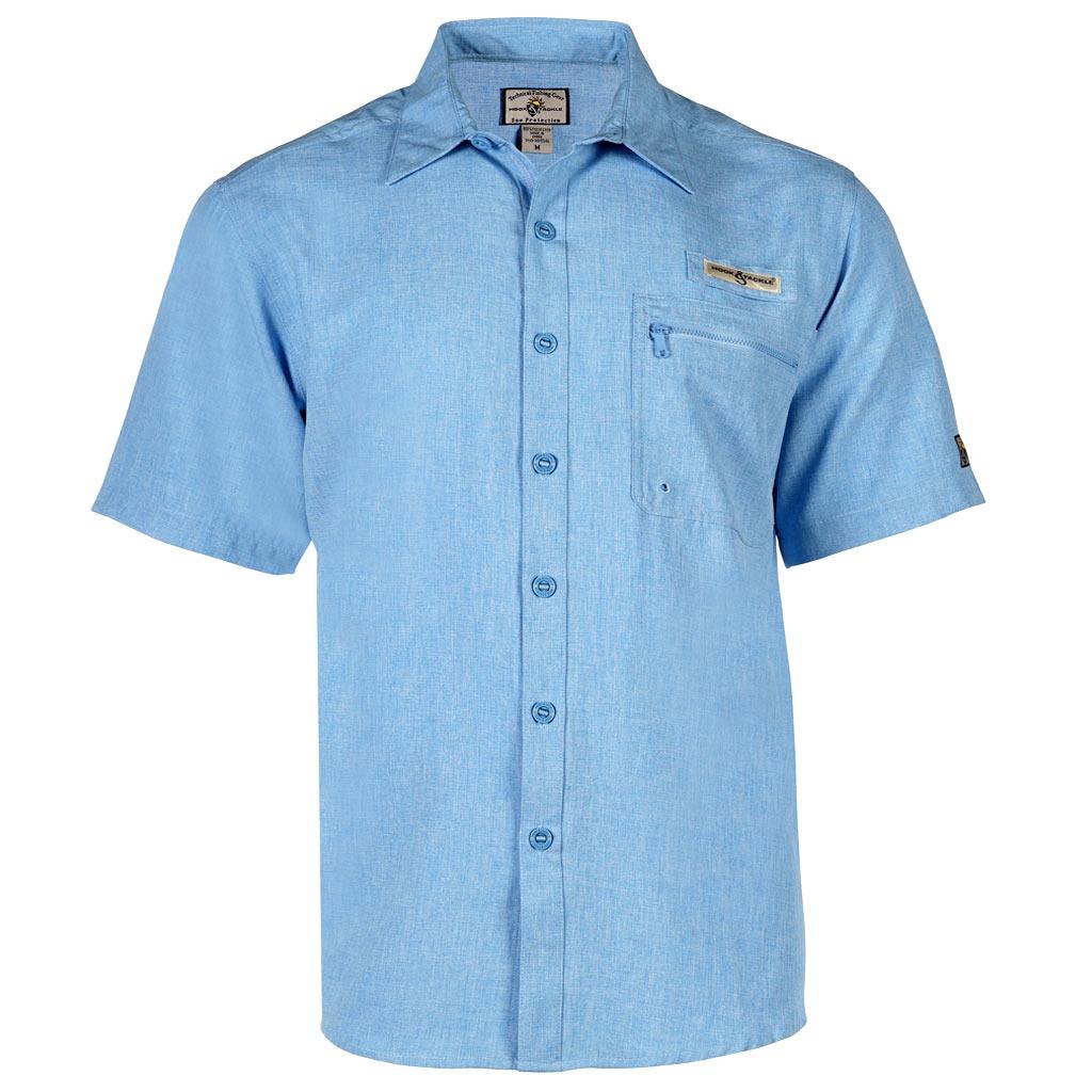 Men 39 s shirt hook tackle short sleeve tamarindo for Sun protection golf shirts
